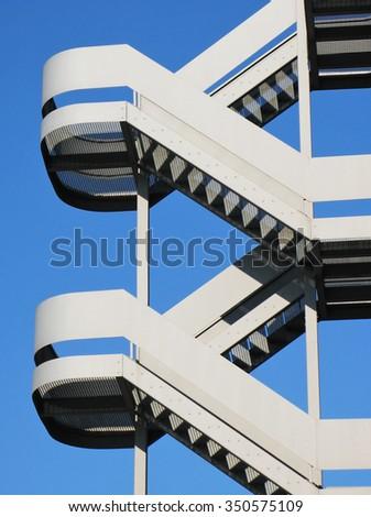 Emergency stairs - stock photo