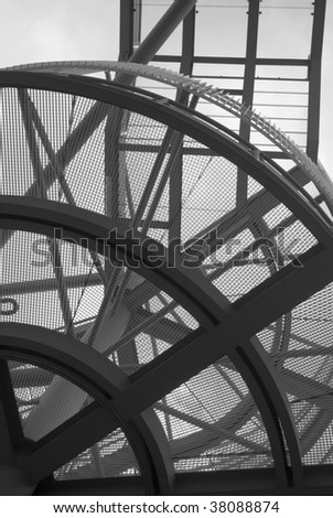 emergency stairs of the ajax amsterdam arena - stock photo
