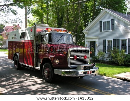 Emergency vehicle. - stock photo