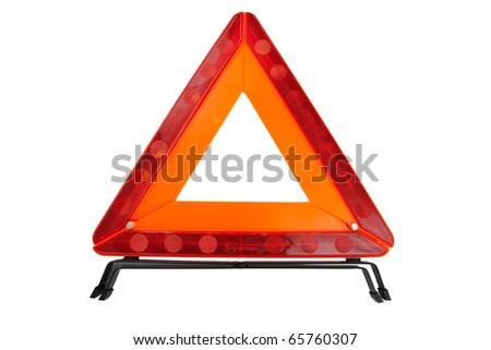 Emergency warning sign - stock photo