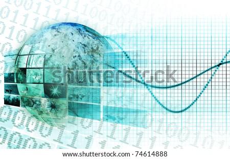 Emerging Technologies Around the World as Art - stock photo