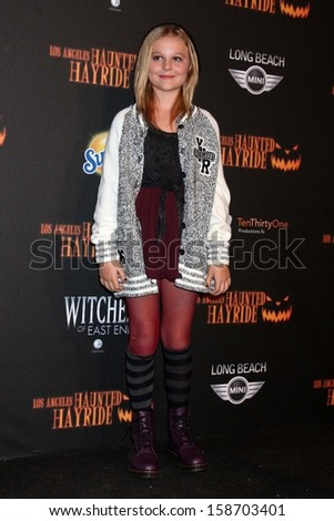 Emily Alyn Lind at the 8th Annual LA Haunted Hayride Premiere Night, Griffith Park, Los Angeles, CA 10-10-13