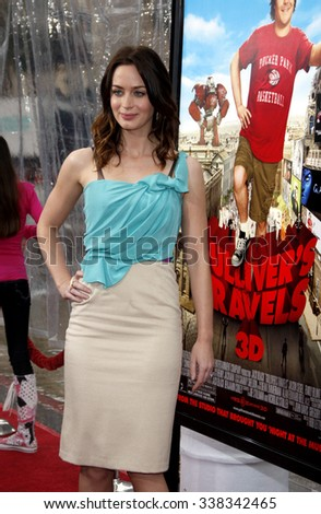 "Emily Blunt at the Los Angeles Premiere of ""Gulliver's Travels"" held at the Grauman's Chinese Theater in Hollywood, California, United States on December 18, 2010."