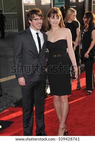 "Emily Mortimer & John Gallagher Jr. at the Los Angeles premiere for HBO's new series ""The Newsroom"" at the Cinerama Dome, Hollywood. June 21, 2012  Los Angeles, CA Picture: Paul Smith / Featureflash - stock photo"