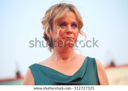 Emily Watson attends the opening ceremony and premiere of 'Everest' during the 72nd Venice Film Festival on September 2, 2015 in Venice, Italy. - stock photo