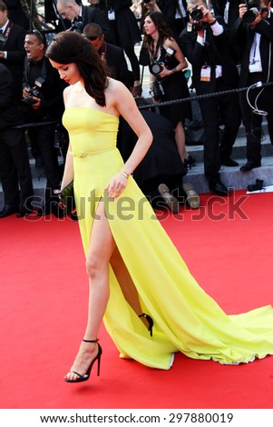Emma Miller attends the opening ceremony and 'La Tete Haute' premiere during the 68th annual Cannes Film Festival on May 13, 2015 in Cannes, France. - stock photo