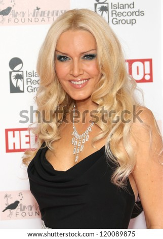 Emma Noble arriving at the The Amy Winehouse foundation ball held at the Dorchester hotel, London. 20/11/2012 Picture by: Henry Harris - stock photo
