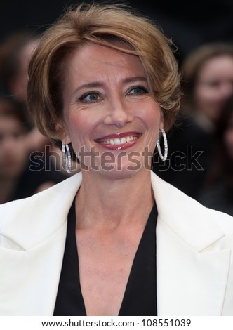 Emma Thompson arriving at the Men In Black 3 Premiere, at Odeon Leicester Square, London. 16/05/2012 Picture by: Alexandra Glen / Featureflash - stock photo