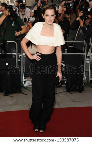 Emma Watson arriving for the 2013 GQ Men Of The Year Awards, at the Royal Opera House, London. 03/09/2013 - stock photo
