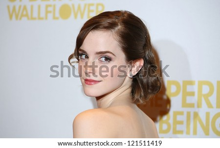 Emma Watson arriving for The Perks of being a Wallflower gala screening at The May Fair hotel, London. 26/09/2012 Picture by: Henry Harris - stock photo