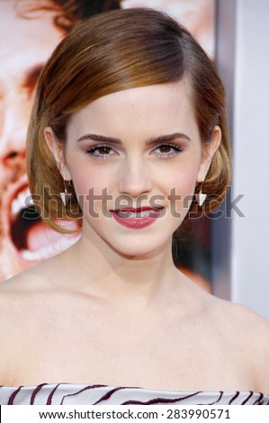 "Emma Watson at the Los Angeles premiere of ""This Is The End"" held at the Regency Village Theatre in Westwood in Los Angeles, United States, 030613.  - stock photo"