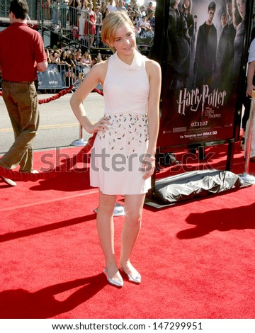 """Emma Watson U.S. Premiere of """"Harry Potter and the Order of the Phoenix"""" Grauman's Chinese Theater Los Angeles, CA July 8, 2007 - stock photo"""