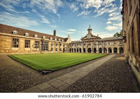 Emmanuel College, Cambridge. - stock photo