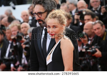 Emmanuelle Beart attends the opening ceremony and 'La Tete Haute' premiere during the 68th annual Cannes Film Festival on May 13, 2015 in Cannes, France. - stock photo