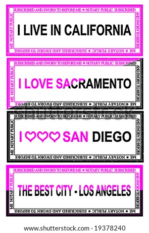 EMO Stamps for the state of California The second set