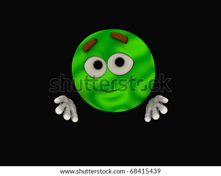 Emoticon character - stock photo