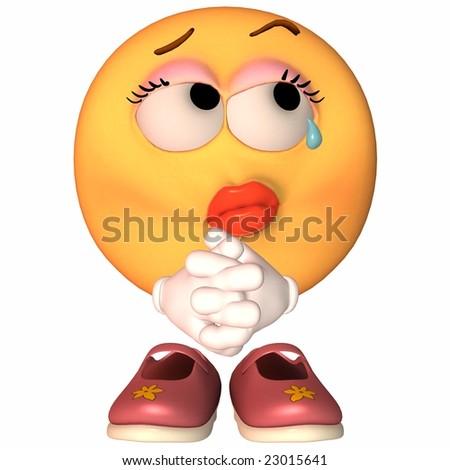 Emoticon Sad - stock photo