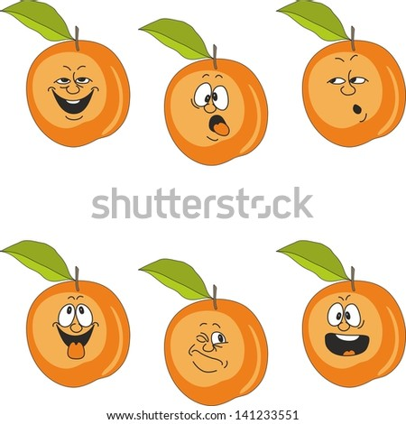 Emotion cartoon peach set 016 - stock photo
