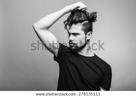 Emotion portrait of young man