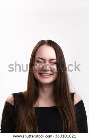 Emotion series of young and  beautiful ukrainian girl -  dreaming laughter and happyness
