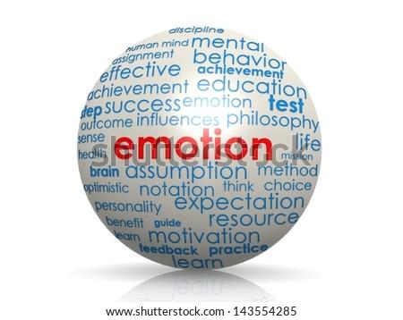Emotion sphere - stock photo