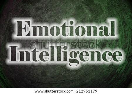 Emotional Intelligence Text on Background - stock photo