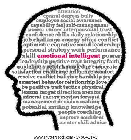 Emotional Intelligent in words cloud illustration - stock photo
