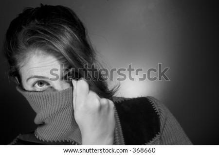 Emotional model - stock photo