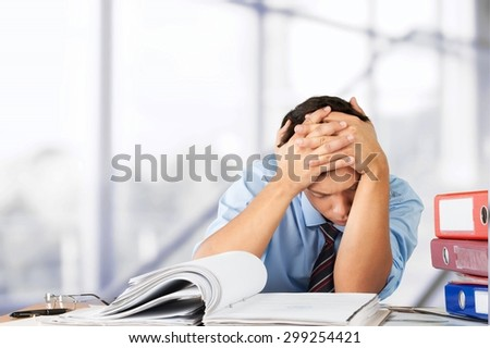 Emotional Stress, Working, Occupation. - stock photo