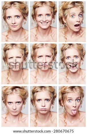 Emotional woman - stock photo