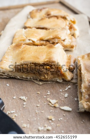 Empanada typical Spanish food) - stock photo