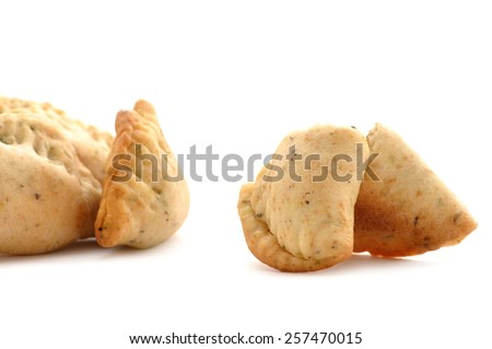 Empanadas Isolated on White - stock photo