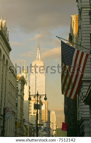 Empire State Building and Midtown Manhattan - stock photo