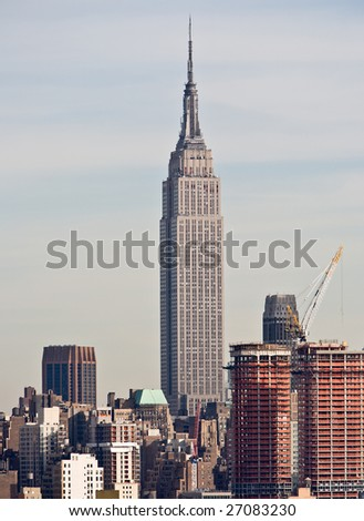 Empire State Building and Surroundings - stock photo