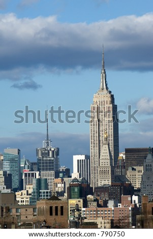 Empire state building in New York skyline