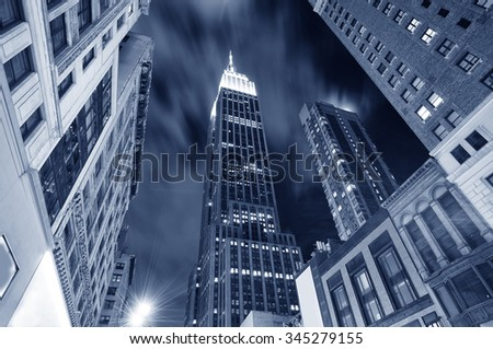 Empire state building new york - stock photo
