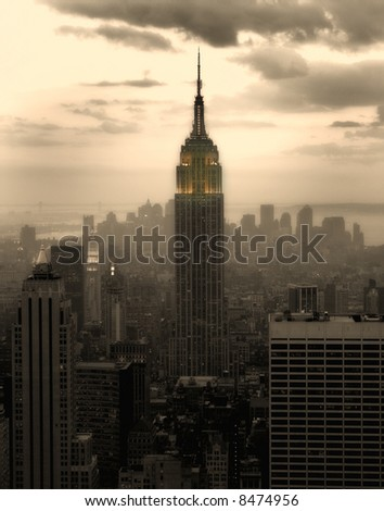 empire state building - new york - stock photo