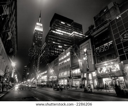 Empire state building - new york city - stock photo