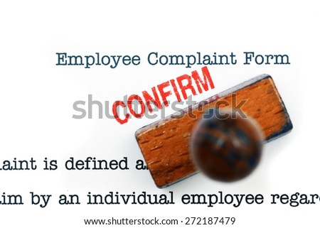 Employee complaint form - confirm - stock photo