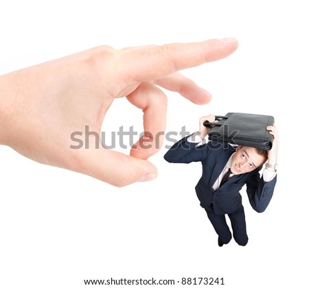 Employee getting fired - stock photo