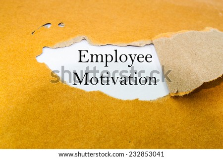 Employee motivation concept on brown envelope  - stock photo
