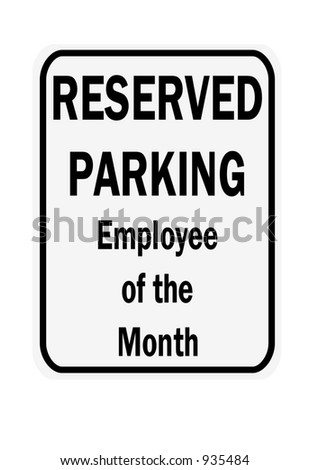 Employee of the month sign isolated against a white background - stock photo