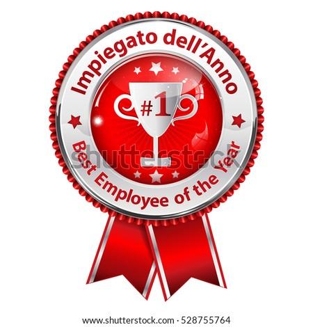 Employee Year Italian Language Impiegato Dell Stock Illustration