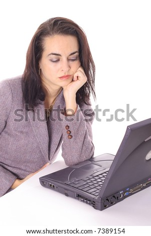 employee on the clock and bored - stock photo