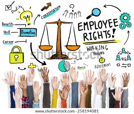 Employee Rights Employment Equality Job Hands Volunteer Concept - stock photo