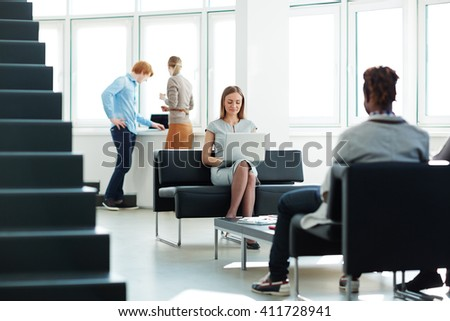 Employees in office