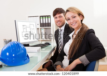 Employees took break from work for several minutes only. - stock photo