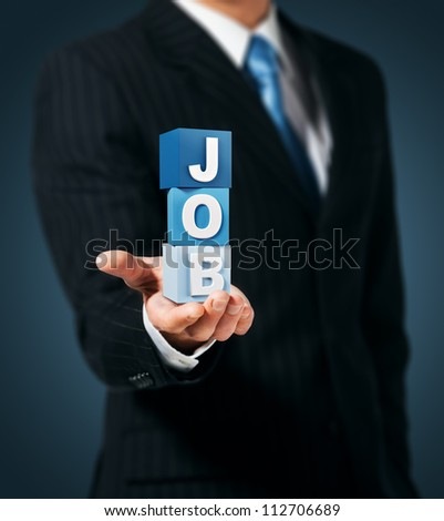 Employer. Job Search. - stock photo