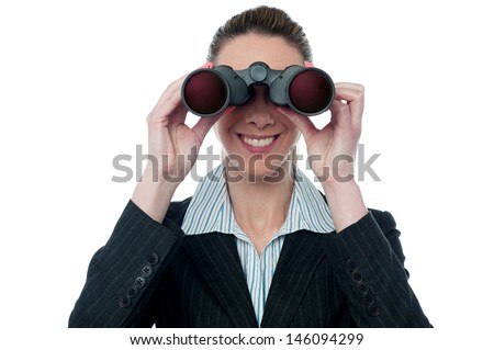 Employer keeping an eye on team from distance