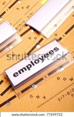 employes word on business office folder showing job hiring or work concept - stock photo